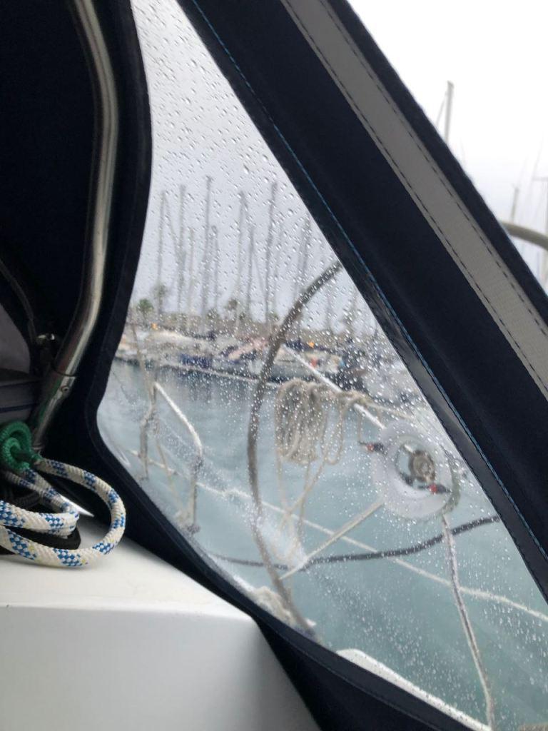 yes! Rain in Puerto de Tazacorte...