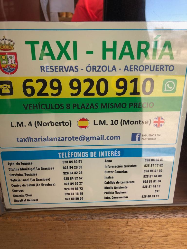 just in case somebody needs a taxi ride to one of the beaches, with a bit of luck Norberto will be your driver 😁