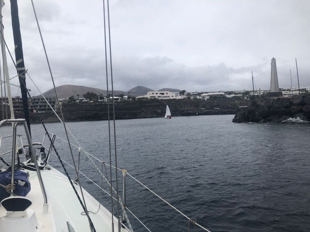 and the entrance of Puerto Calero
