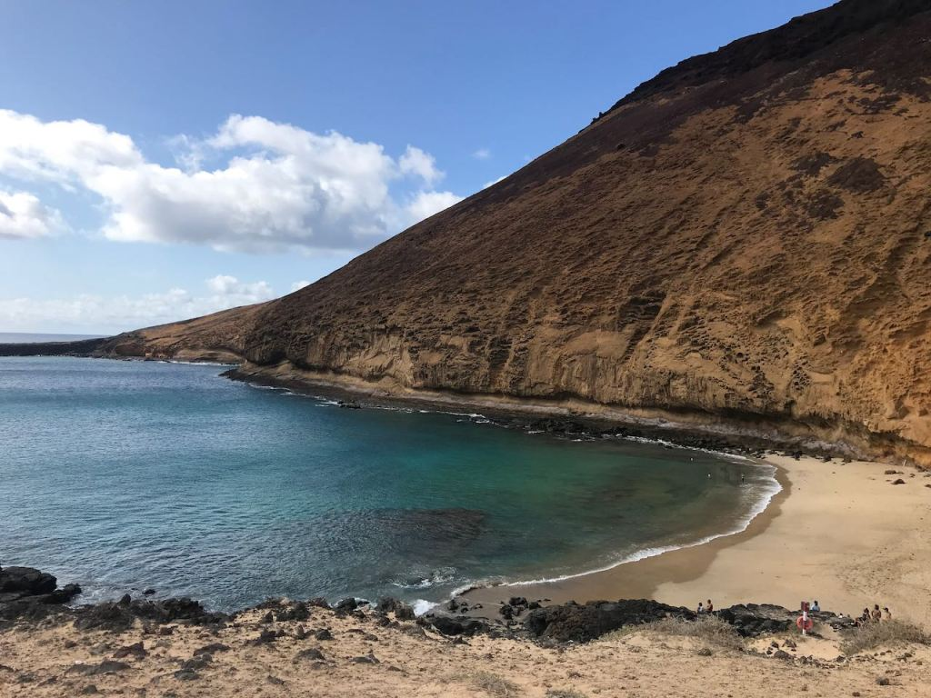 the south west tip of La Graciosa, the lovely beach of Playa La Cocina